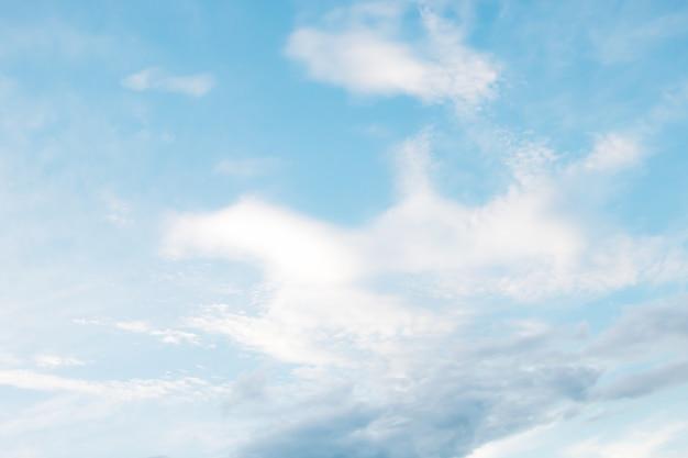 Um, macio, nuvem, fundo, azul, céu, com, nuvem