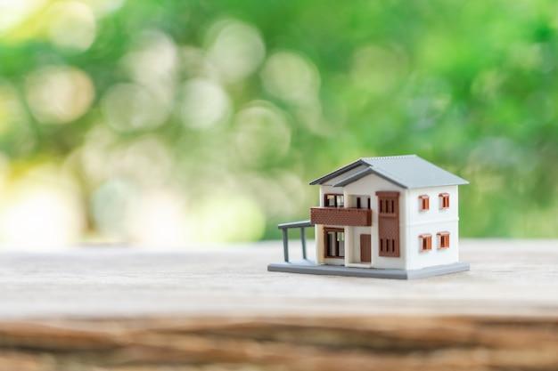 Um modelo de casa modelo