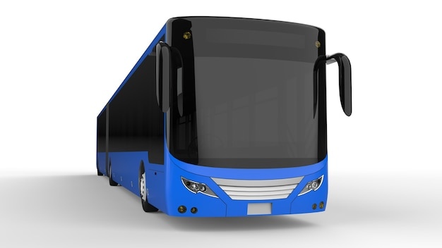 Um modelo de modelo de ônibus urbano grande para colocar suas imagens e inscrições