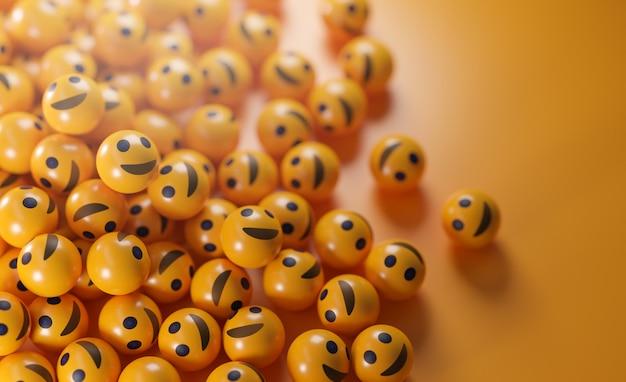 Um monte de emoticons sorridentes.