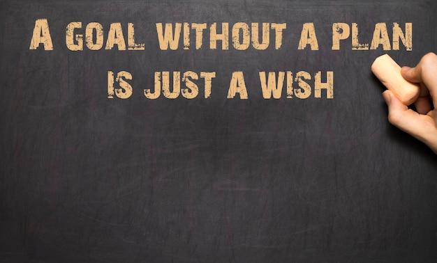 Um objetivo sem um plano é apenas um desejo!