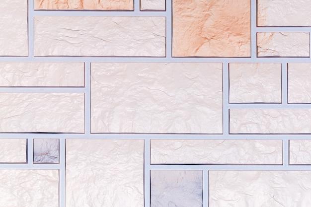 Um padrão coletado de uma variedade de pedras decorativas de cerâmica, foto de fundo, close-up