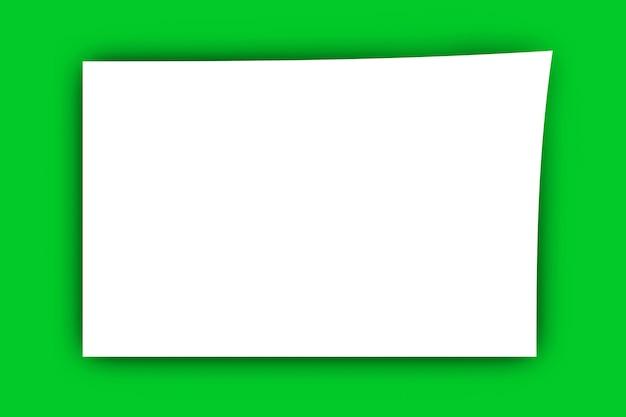 Um pedaço de papel em branco. ilustração 3d renderizada.