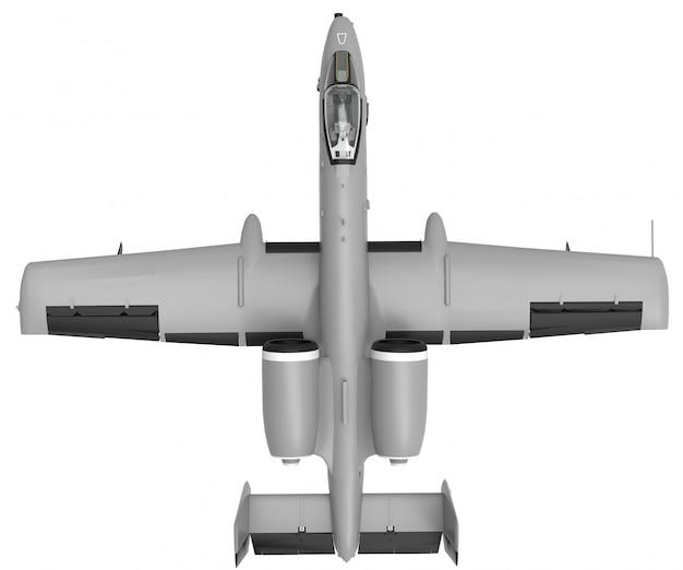 Um pequeno avião militar
