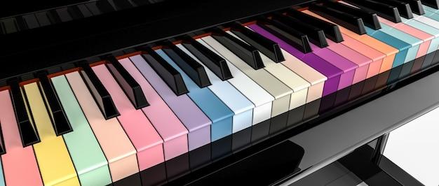 Um piano multicolorido diferente