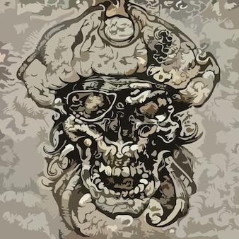 Um pirata. ilustração abstrata