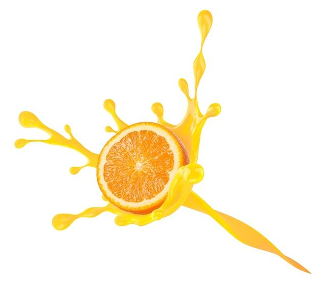 Um respingo laranja.