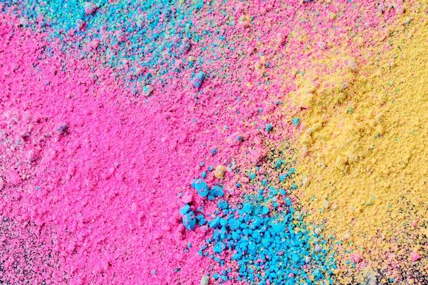 Um splatter de pó de pigmento colorido natural pastel