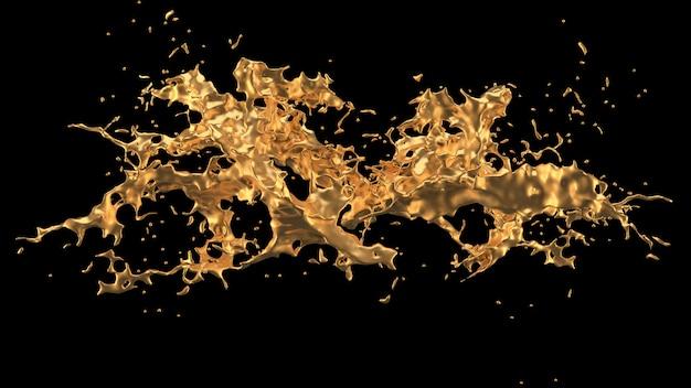 Um toque de ouro. renderização em 3d.