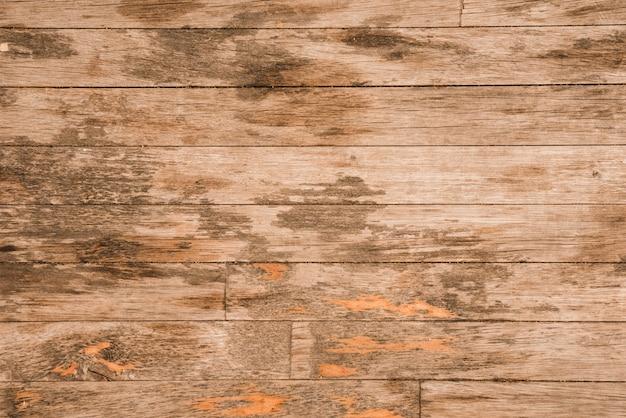Um velho fundo de prancha de madeira
