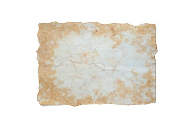 Um velho pedaço de papel amassado