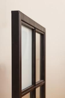 Uma amostra dos caixilhos das janelas