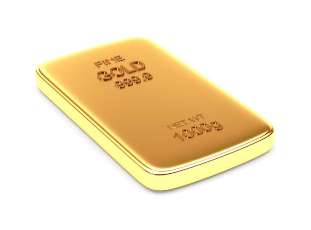 Uma barra plana de ouro