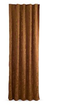 Uma bela cortina com fecho. fundo branco isolado.