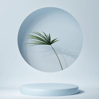 Uma cena mínima abstrata com uma forma geométrica para apresentação do produto, renderização em 3d, ilustração em 3d