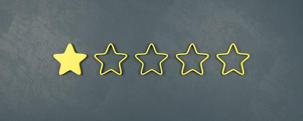 Uma classificação de cinco estrelas, conceitos de classificação muito ruim