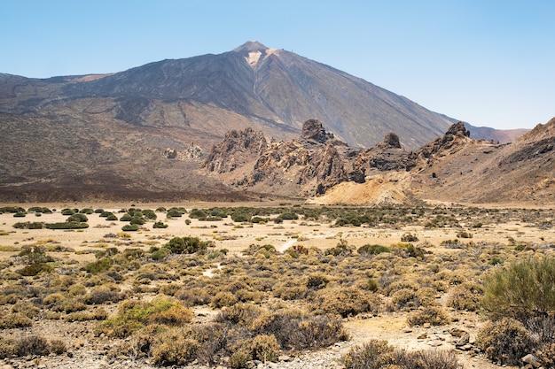 Uma cratera no parque nacional do vulcão teide