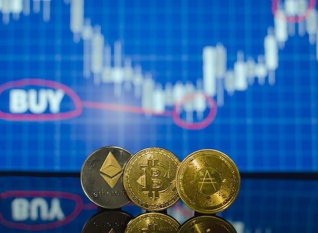 Uma das melhores maneiras de economizar dinheiro usando criptomoedas ethereum bitcoin ada Foto Premium