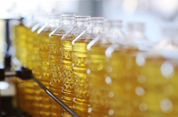 Uma fábrica para a produção de óleo de girassol.