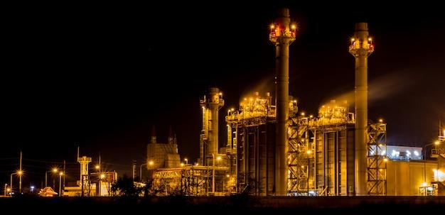Uma foto da usina industrial
