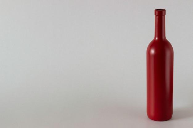 Uma garrafa de vinho tinto