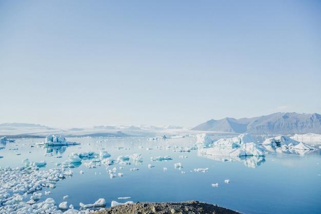 Uma geleira derretida na islândia