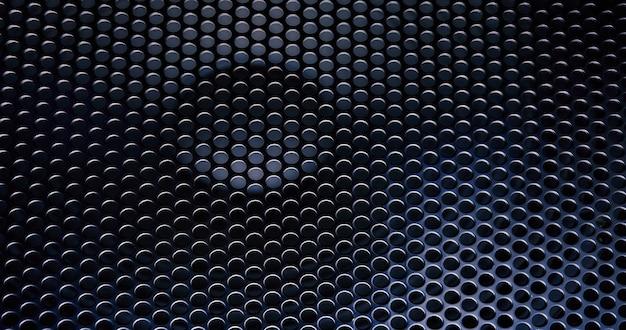 Uma grade de metal preta como pano de fundo.