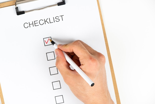 Uma lista de verificação para nossa rotina diária