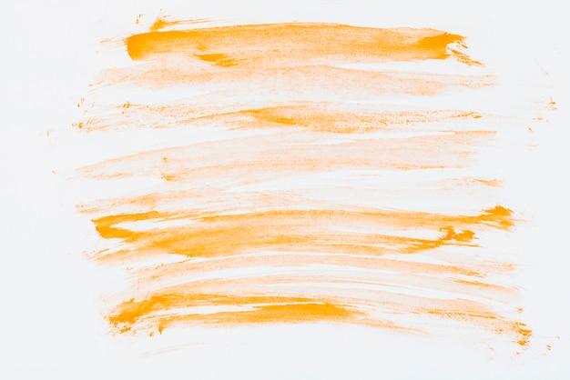 Uma mão laranja desenhada pincelada aquarela