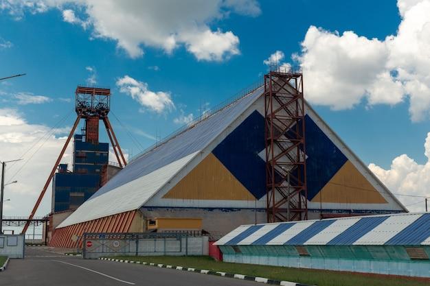Uma mina de minério de potássio. uma das minas da empresa belaruskali, república da bielo-rússia.