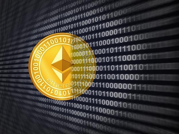 Uma moeda de ethereum