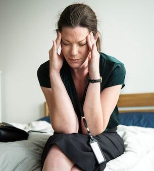 Uma mulher estressante