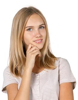 Uma mulher pensante