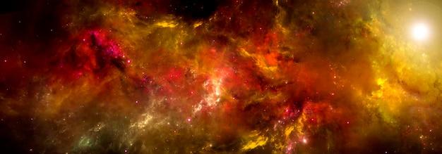 Uma nebulosa em cores brilhantes no espaço profundo. papéis de parede de ficção científica.