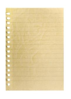 Uma página arrancada do caderno.