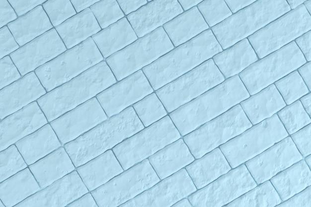 Uma parede de tijolo azul claro