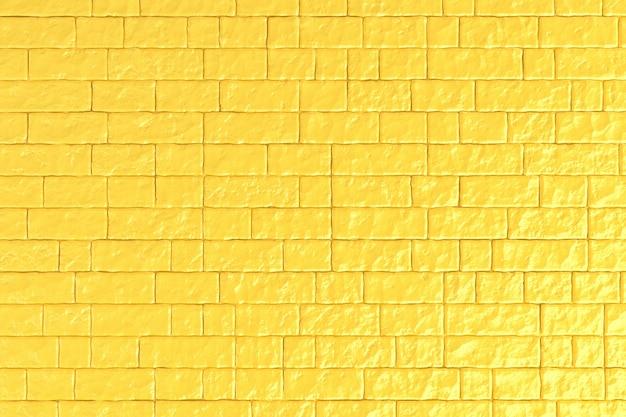 Uma parede de tijolos amarelas.