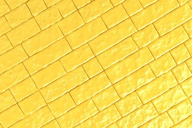 Uma parede de tijolos amarelos. ilustração 3d