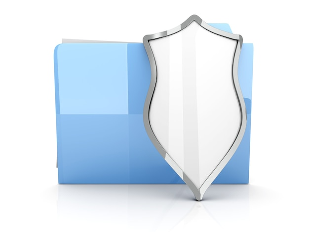 Uma pasta protegida e criptografada