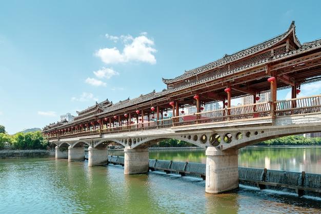 Uma ponte com características étnicas, duyun, guizhou