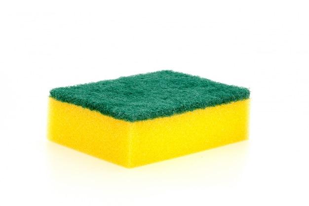 Uma seleção de esponja de lavar louça