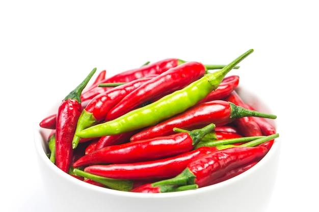 Uma tigela de pimenta