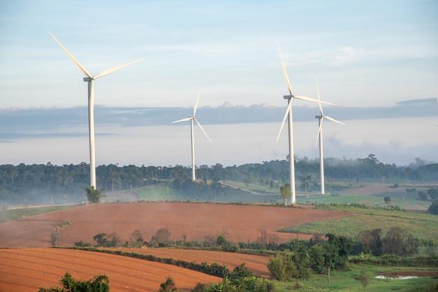 Uma turbina eólica
