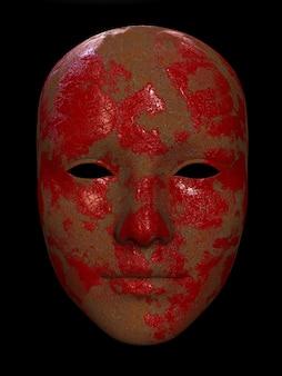 Uma velha ilustração 3d de máscara de ferro