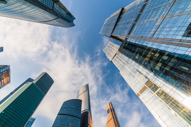 Uma visão do centro internacional de negócios de moscou