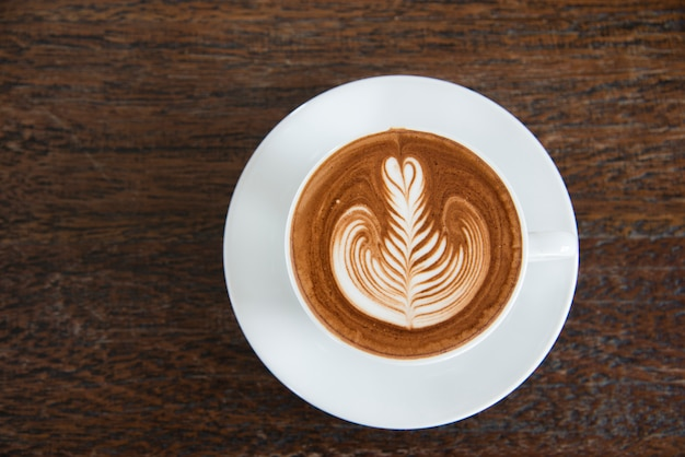 Uma xícara de café, arte capuccino, latte art, latte, cappuccino