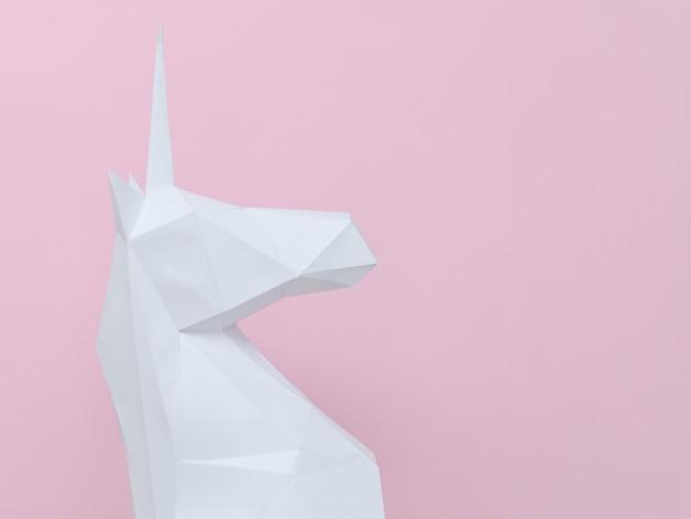 Unicórnio de papel branco