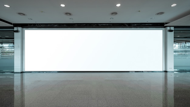 Unidade básica de pop-up de tecido a mídia de banner de publicidade exibe o cenário vazio