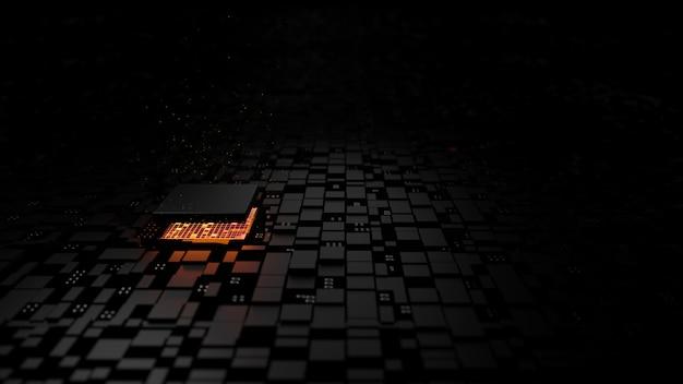 Unidade central do processador do chipset microprocessador no circuito de iluminação