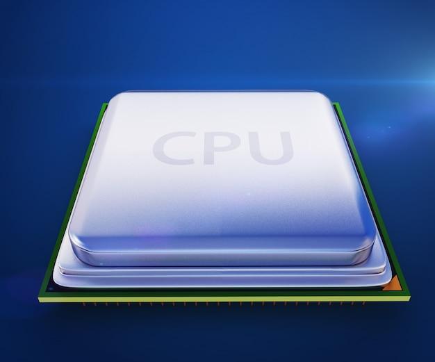 Unidade central do processador na placa-mãe